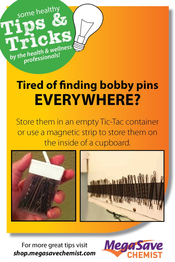 [TIPS AND TRICKS TUESDAY] It's a common female problem. You seem to buy thousands of bobby pins but can never seem to find them when you need them! Well ladies, we have a nifty solution for you! #tipsandtrickstuesday