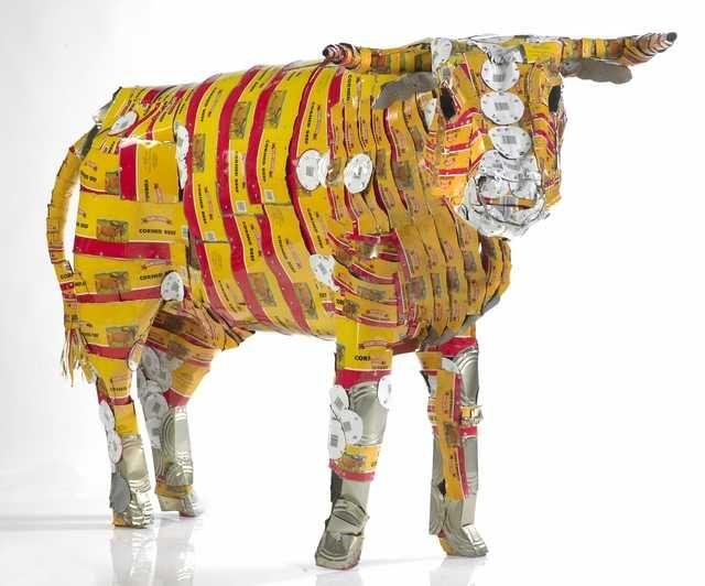 Topic: Pisupo lua afe (Corned beef 2000) by Michel Tuffery | Collections Online - Museum of New Zealand Te Papa Tongarewa. Pisupo Lua Afe (Corned Beef 2000). Michel Tuffery. 1994 C.E. Mixed media.