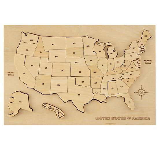Best Scrollsaw Projects Images On Pinterest Wood Toys - Us map puzzle wood