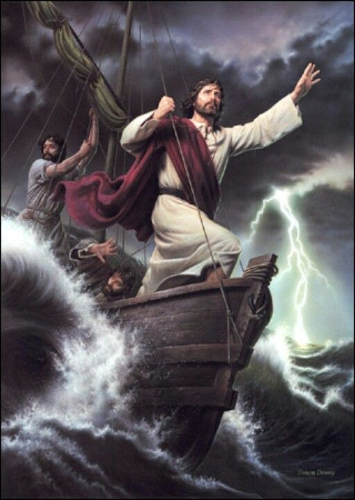 "Calm In Your Storm: Then Jesus got into the boat and started across the lake with his disciples. Suddenly, a fierce storm struck the lake, with waves breaking into the boat. But Jesus was sleeping. The disciples went and woke him up, shouting, ""Lord, save us! We're going to drown!"" Jesus responded, ""Why are you afraid? You have so little faith!"" Then he got up and rebuked the wind and waves, and suddenly there was a great calm. The disciples were amazed. ""Who is this man?"" they asked. ""Even…"