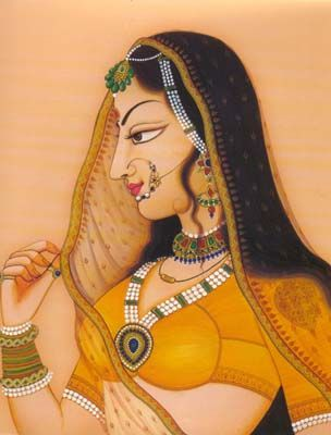 https://www.facebook.com/nikhaarfashions Painting from Rajasthan, India