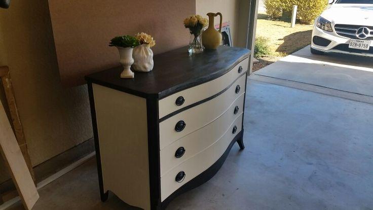 Antique dresser redo after