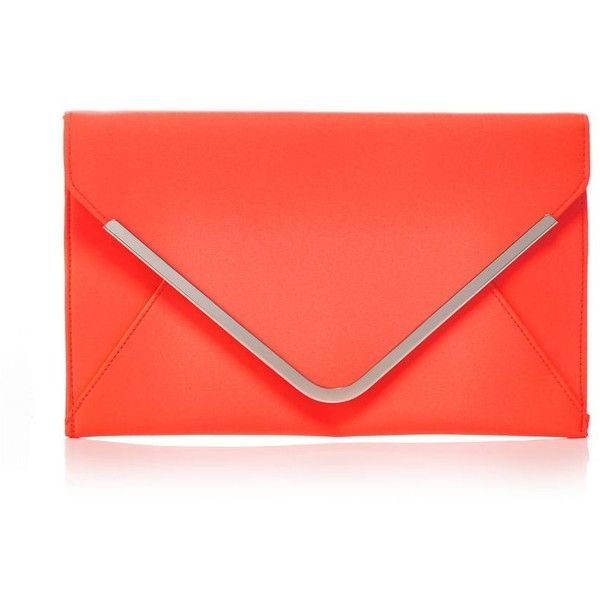 Star by Julien Macdonald Orange satin envelope clutch bag ($28) ❤ liked on Polyvore featuring bags, handbags, clutches, satin purse, satin handbags, orange clutches, satin clutches and red clutches