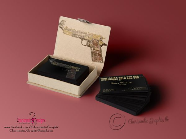 MidFlorida Gold and Gun Business Cards on Behance