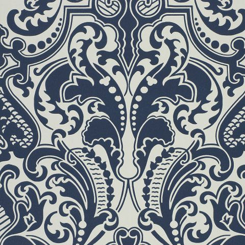 Gwynne Damask - Porcelain - Damasks - Wallcovering - Products - Ralph Lauren Home - RalphLaurenHome.com