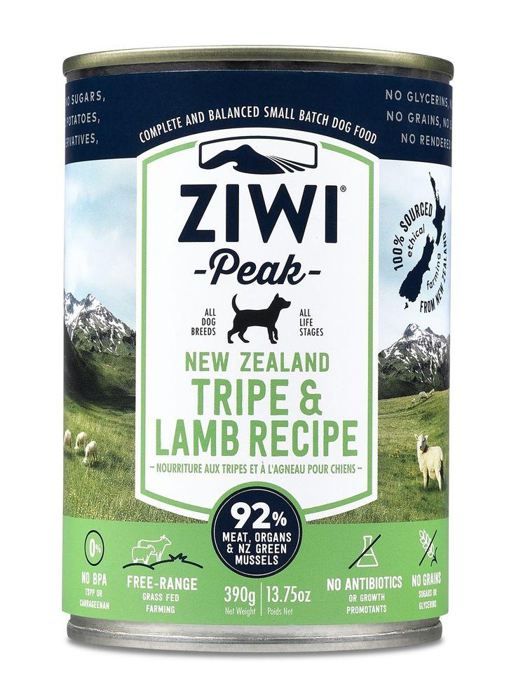 ZIWI PEAK MOIST DOG FOOD 12 CANS X 390G - TRIPE & LAMB