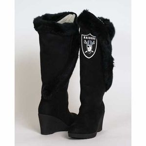 Oakland Raiders Cheerleader Boot - Click to enlarge