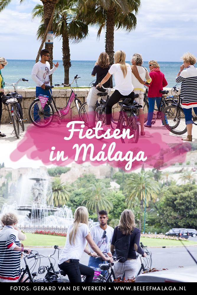 Handig aan het beging van je stedentrip Málaga. Lekker op de fiets de leukste plekjes van Málaga ontdekken. Foto's: Gerard van de Werken - BeleefMálaga