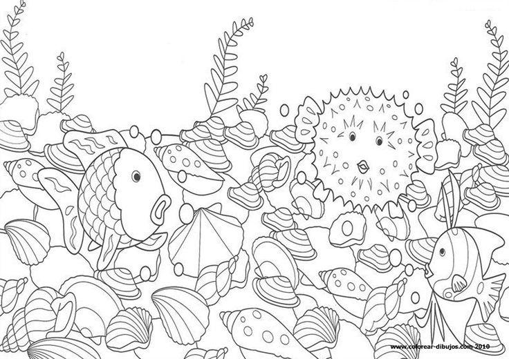 El pez arcoiris colorear.dibujos infantiles de el pez ...