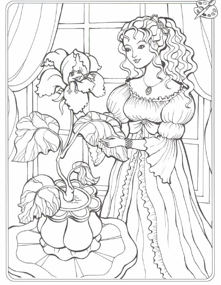 Kids Under 7: Princess Coloring Pages. Part 2