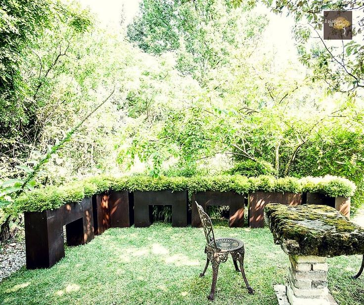 Creare un angolo intimo e rilassante nel tuo giardino? Davvero facile con la #fioriera #Tebe a U di #IlGiardinodiCorten!