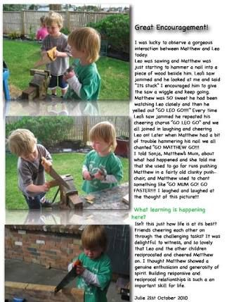 infant developmental learning stories ece - Google Search