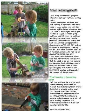 infant developmental learning stories ece - Google Search
