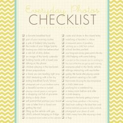 Capture the simple moments on camera with the help of this printable photo checklist.