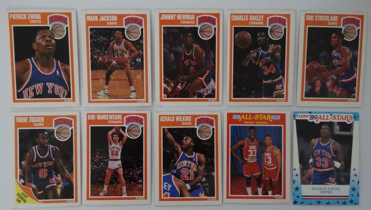 1989-90 Fleer New York Knicks Team Set Of 10 Basketball Cards #NewYorkKnicks