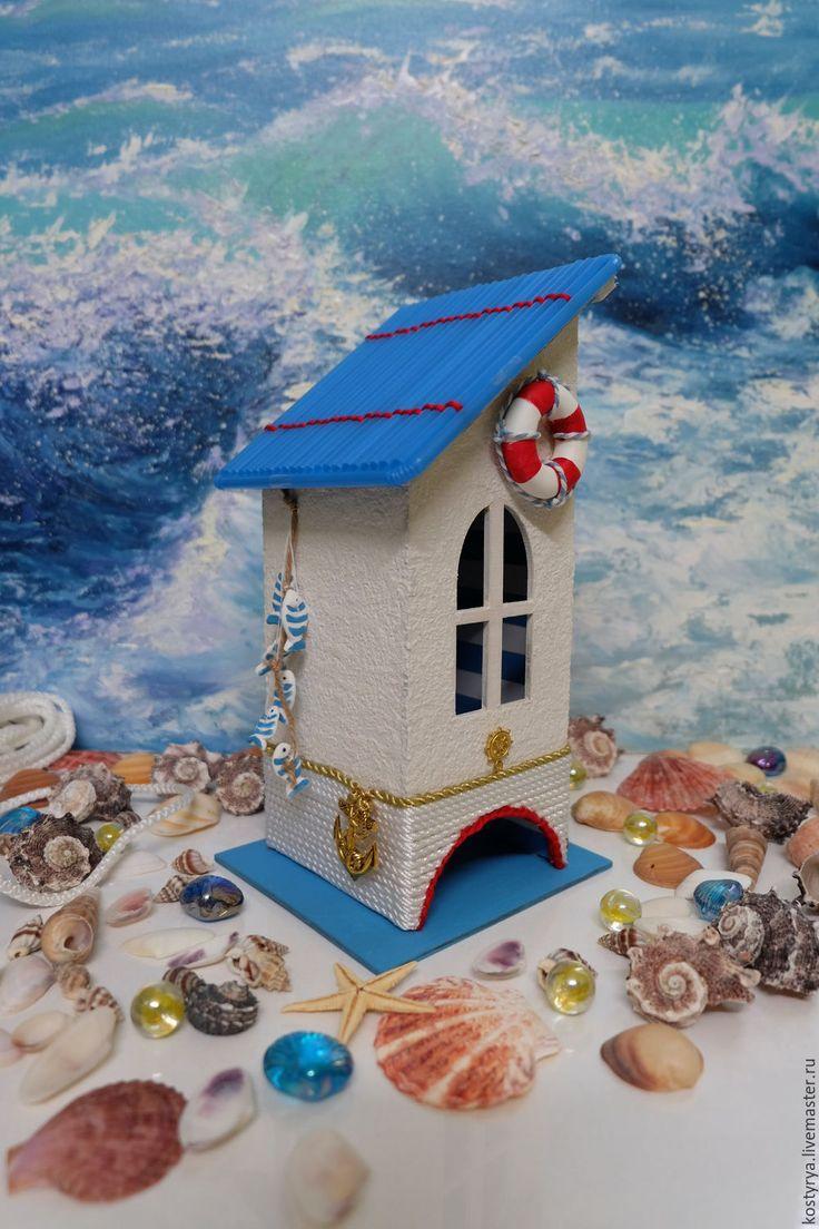 Купить Чайный домик в морском стиле - голубой, морской стиль, морская тема, морская тематика