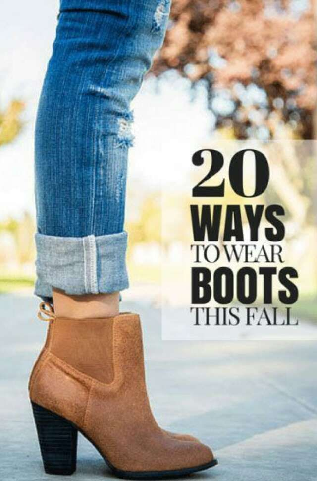 20 Ways To Wear Boots This Fall!!!!
