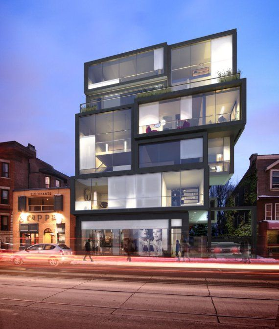 N-Box is a proposed residential building in Toronto, Canada. Designed by  Contemporary BuildingContemporary ArchitectureContemporary ...
