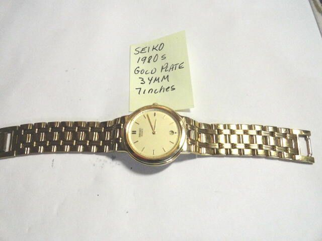Excited to share the latest addition to my #etsy shop: 1980s Seiko Gold Plated Date Bracelet Wrist Watch 34mm 7 inches long http://etsy.me/2EqgtY9 #accessories #watch #1980sseiko #braceletwatch #goldpllateseiko #mansseiko #seikowristwatch #vintageseiko #kayesvintagejew