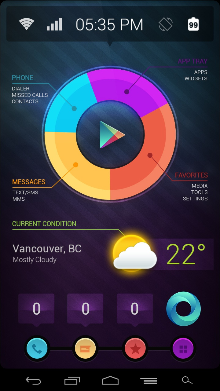 "I just discovered this Amazing android Homescreen ""Pie UI Revisited*"" on MyColorscreen.com"