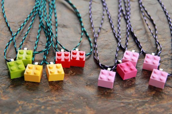 This would b the EASIEST party favor EVER! lol...  TP goes on kicks where he wants to wear something  Hey, I found this really awesome Etsy listing at http://www.etsy.com/listing/94419117/brick-necklaces-for-boy-or-girl-choose