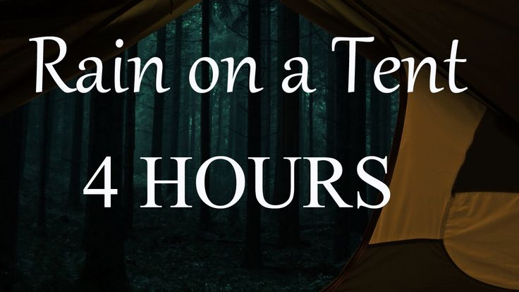 RAIN on a TENT - Sound Therapy - Nature Sounds - Rain and thunder - Rela...