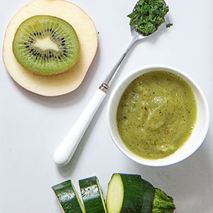 58 best baby food 7 8 months images on pinterest baby foods baby zucchini apple kiwi puree with mint forumfinder Images