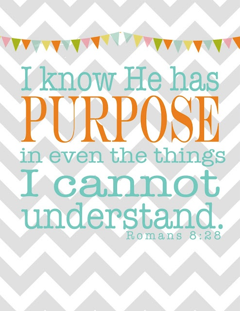 I know He has purpose ...and it's better than anything I could ever imagine for myself!: