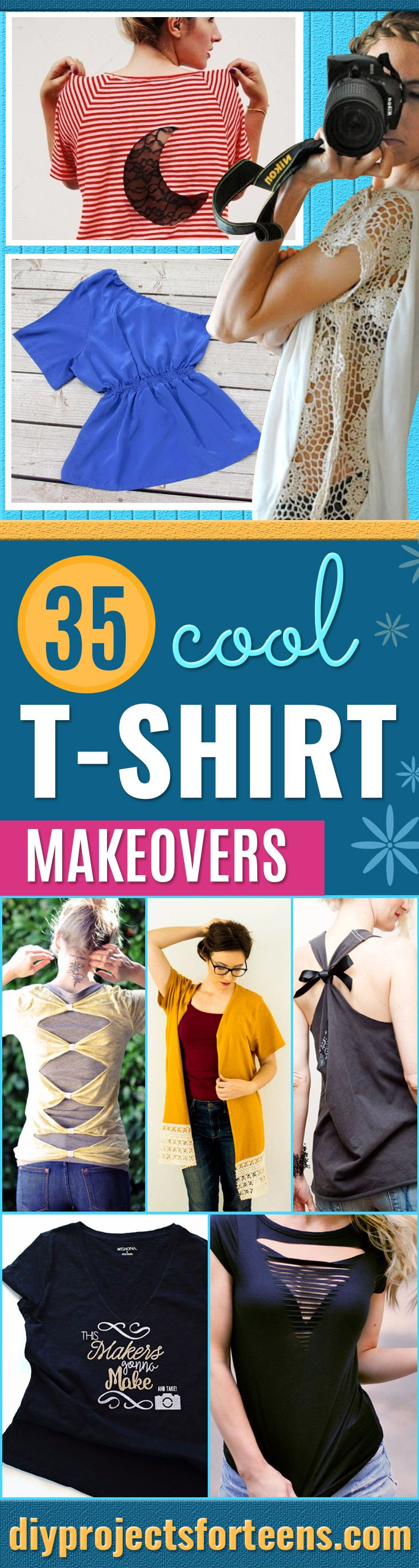 35 Easy T Shirt Makeovers For Creatively Cool Clothing