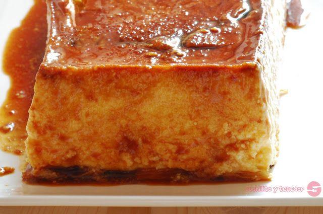 Cuchillito y Tenedor: Flan de queso.