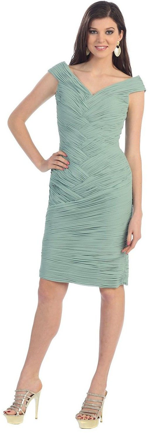 US Fairytailes Short Cocktail Party Designer Ruched Prom Dress 2814.