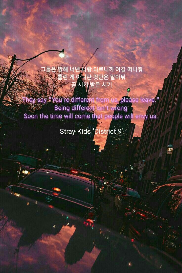 Stray Kids District 9 Lyrics In 2019 Quotes For Kids Song