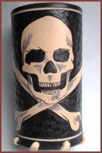 nápojová rolka - skull