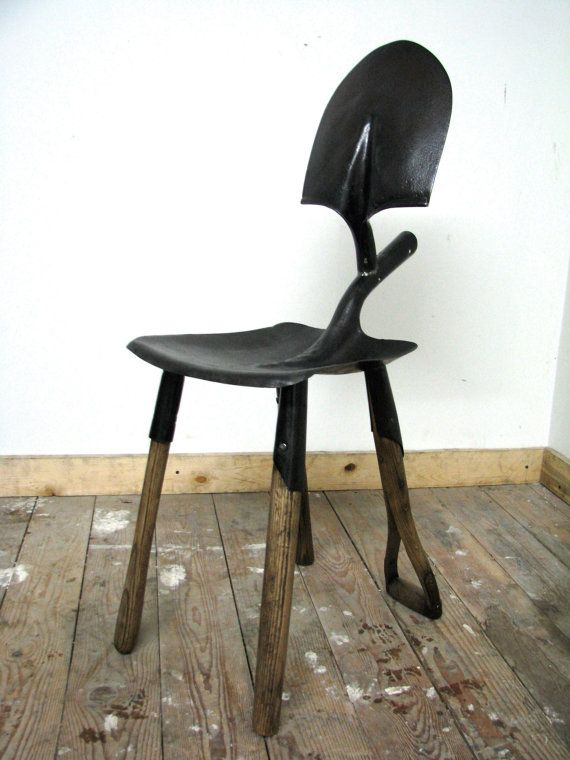 Recycled Shovel Chair by sunsmithdesign on Etsy, $375.00