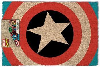 """Zerbino """"Shield"""" di #CaptainAmerica. Materiale: PVC e fibra di cocco. Dimensioni: 40 x 60 cm circa."""