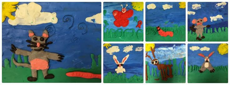 """Mini art unit- How to create art like Barbra Reid! Artistic creations inspired after reading the book """"GIFTS"""". See how we did it on Miss T classroom blog!"""