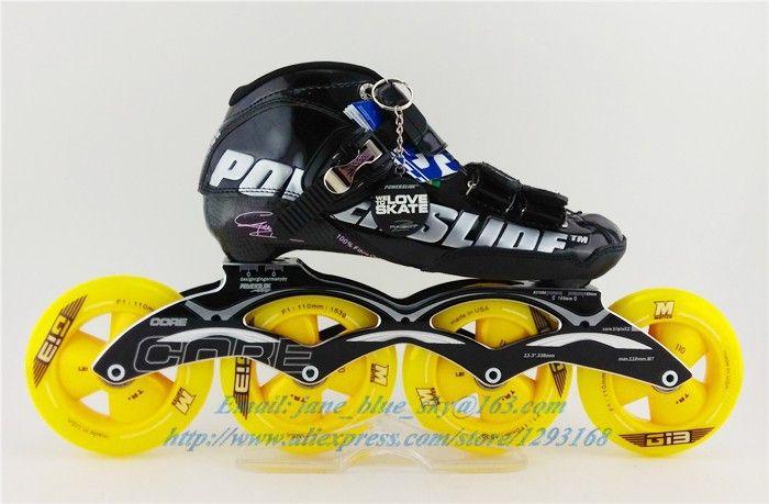 Original Brand Slalom Speed Skating Shoes,Adults / Kids Professional Roller Skates With 4 Wheels Inline Roller Patins Skates