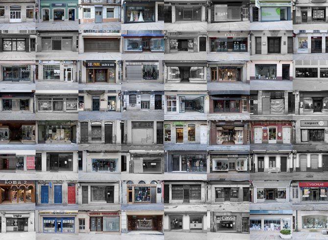 La arquitecta y fotógrafa Ana Amado retrata la realidad El comercio de Ferrol, en color abierto. En blanco y negro cerrado. Un 40% cerrado y muchos ferrolanos siguen apostando por las Grandes Superficies