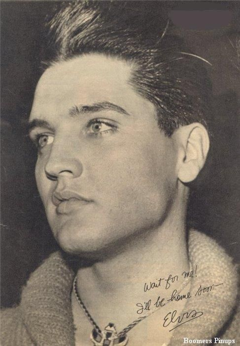"""Wait for me"" photo of Elvis Presley before going into the Army"