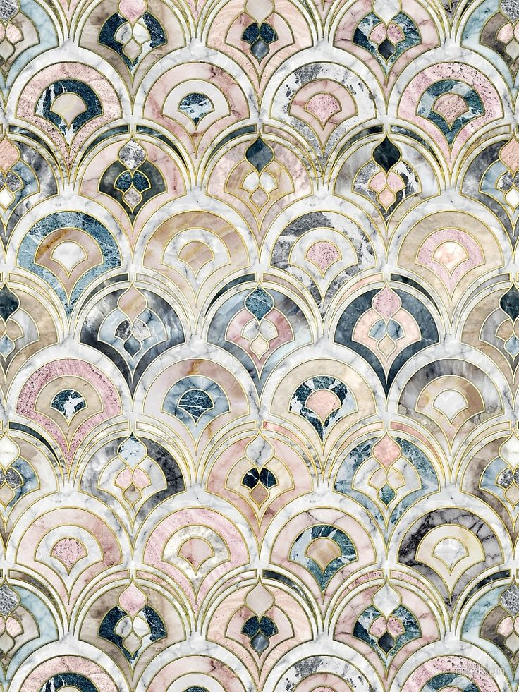 Mosaic scallop tile