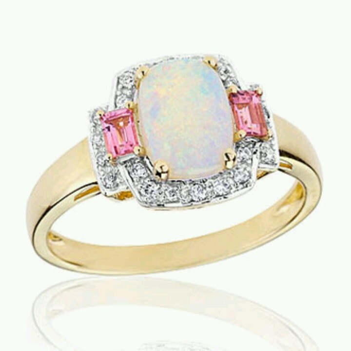rings products birthstone opal b black deals october filled ring gold