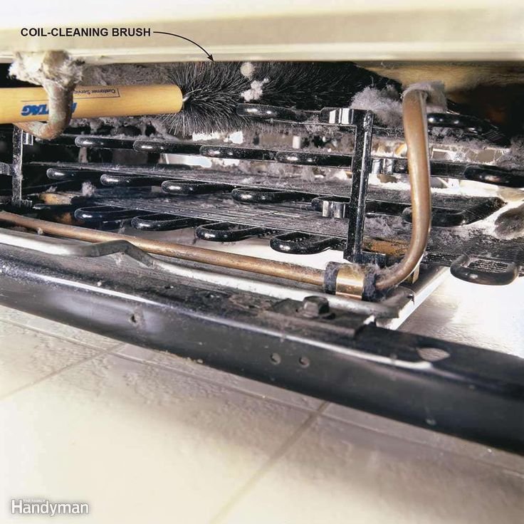 Refrigerator condenser coils are located on the back of