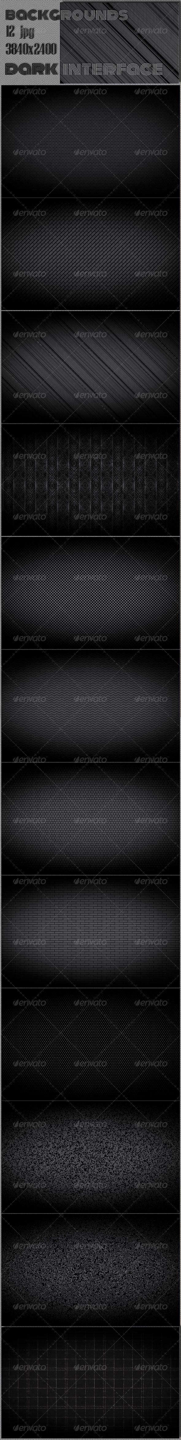Dark Web Interface Pattern by cinema4design Dark Web Interface 4K Pattern Background 12 hi-res JPG images.3840脳2400, 300 DPI.