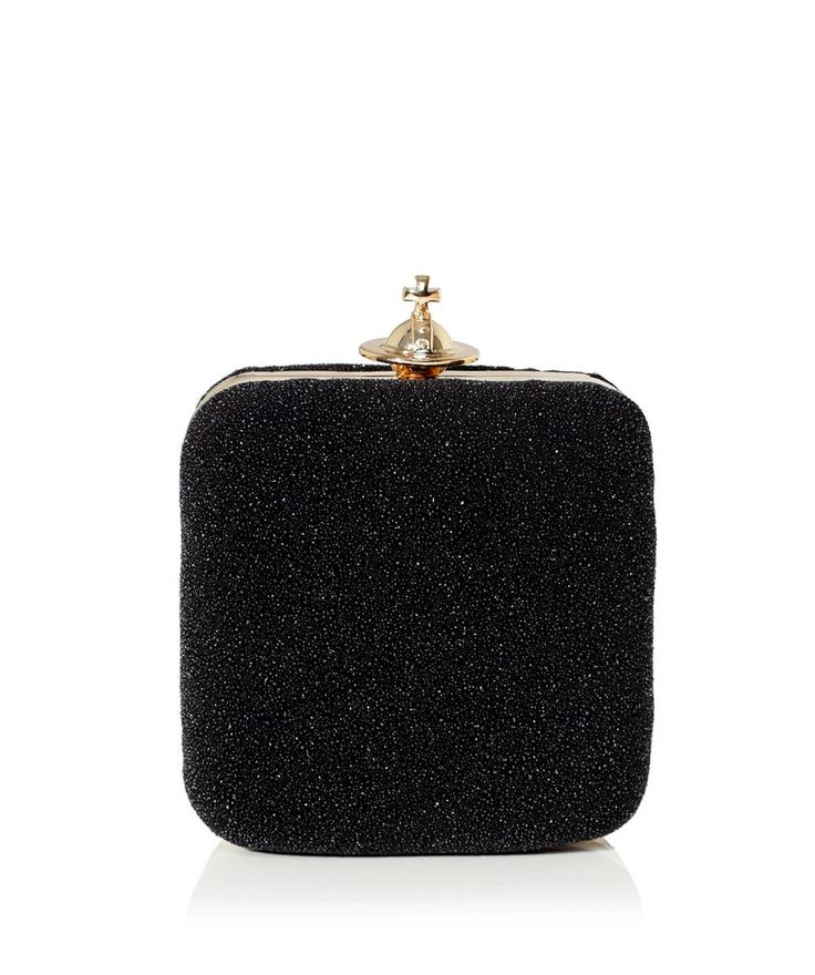 Vivienne Westwood Mini Angel Clutch in Black