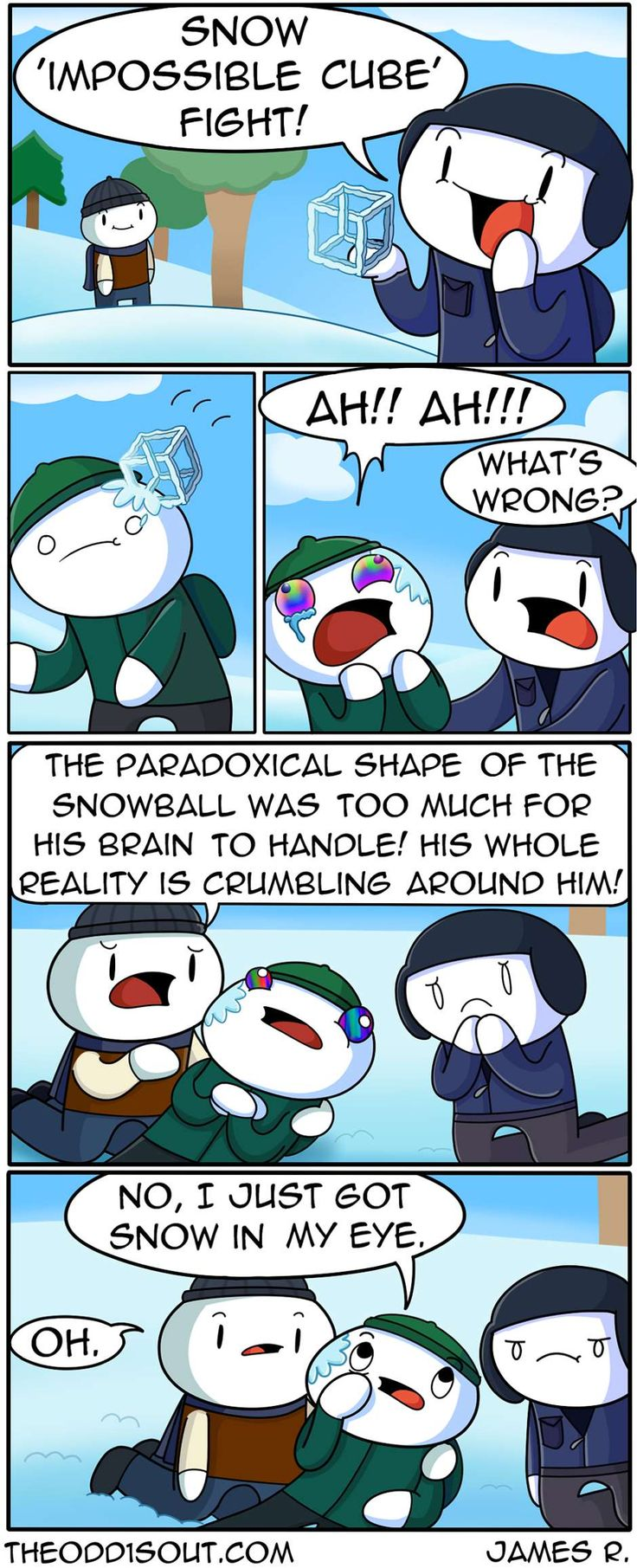 Theodd1sout :: Snow 'Impossible Cube' Fight! | Tapastic Comics - image 1