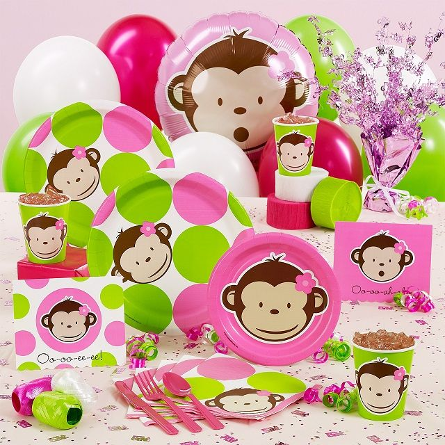 monkey girl baby shower theme 3