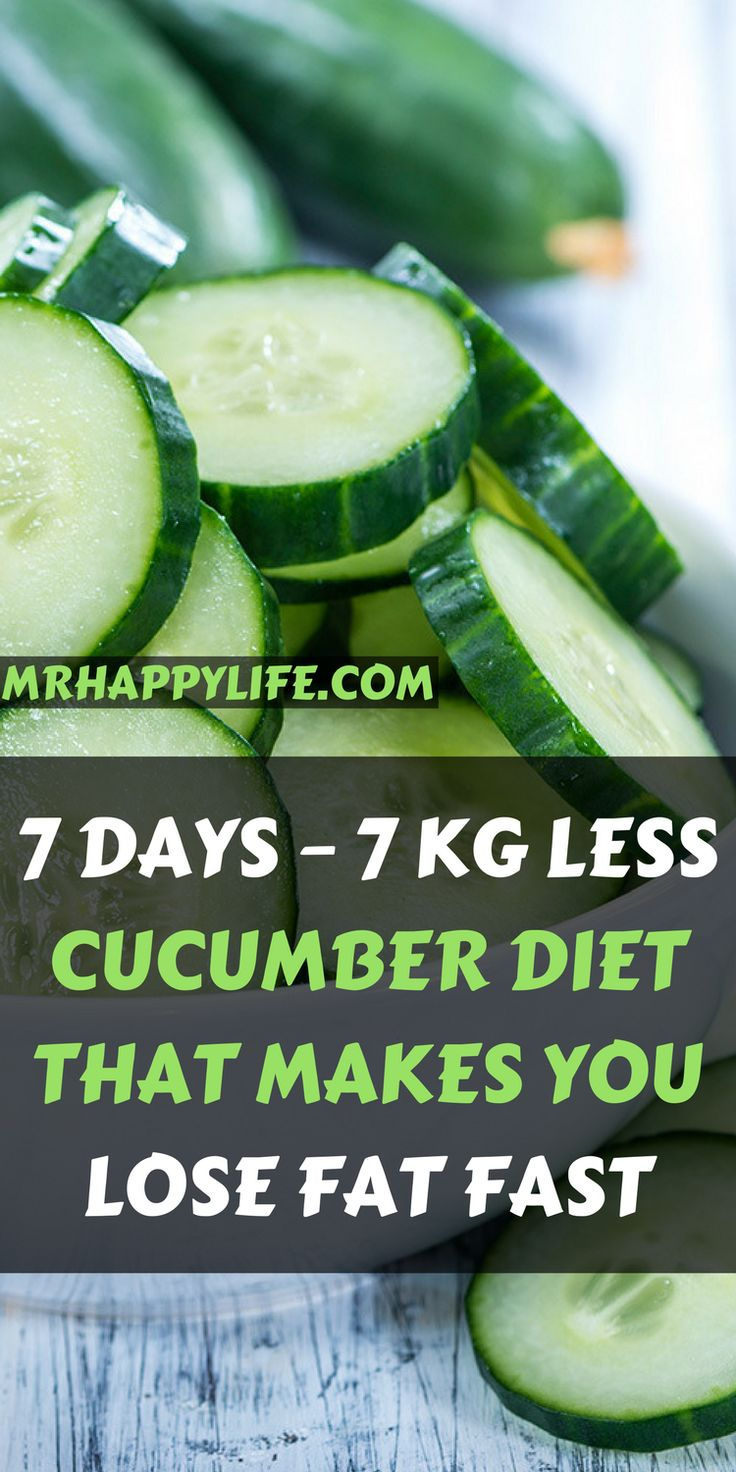 In this article we are going to present you the cucumber diet that lasts just one week and as the name indicates, the diet includes only cucumber in the daily diet.
