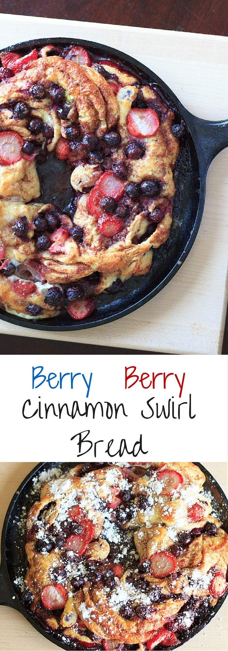 Berry berry cinnamon swirl bread. Berries stuffed inside delicious cinnamon swirl bread and baked to perfection. Much easier to make than it looks! via @trialandeater