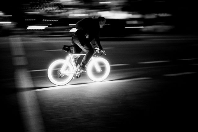Light of the wheels keep on moving.