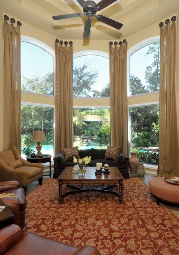 24 best bay window ideas tips images on pinterest bay - Curtains for bay windows in living room ...